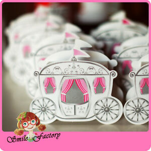 100pcs Enchanted Carriage Cinderella Wedding Favor Box Boxes Fairytale Banquet