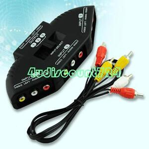 3-Way-Audio-Video-AV-RCA-Switch-Selector-Box-Splitter-For-XBOX-PS3-PS2-DVD