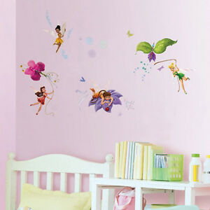 FREE-SHIPPING-DISNEY-TINKER-BELL-FAIRIES-DIY-WALL-STICKER-REMOVABLE-VINYL-KIDS