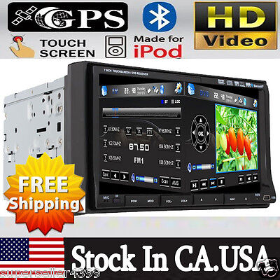 "MP4 Media Car Stereo DVD USB Player GPS Radio iPod TV Bluetooth 7"" Touch Screen on Rummage"