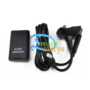 4800mAh Rechargeable Battery Pack Charger For XBOX 360 Wireless Controller