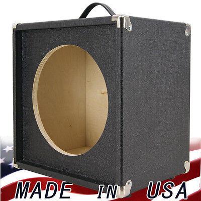 1x12 guitar speaker extension empty cabinet black elephant skin finish tolex ebay. Black Bedroom Furniture Sets. Home Design Ideas