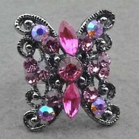 Rose Quartz Elegant Cocktail Ring---BRAND NEW!!