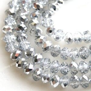 HOT ! Free Shipping 6X8MM Faceted Swarovski Crystal Loose Beads 9 Color
