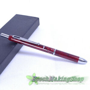CROCODILE 400 Multi-function pen RED 3 COLOR Ball Point Pen AND 0.5 PENCIL NEW