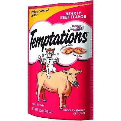 Whiskas Temptations Beef Flav Cat Treat 3 oz. pouch X 12 Mars Pedigree 72302