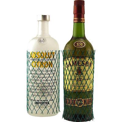 Protective Mesh Liquor Bottle Sleeves - Set Of 10 - Ship Glass Safely, No Breaks