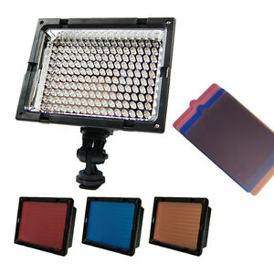 New LE-160 Pro LED Light Video Hotshoe Mount For Canon EOS SLR 5D II 7D 60D