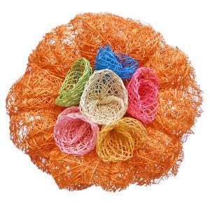 broche pince cheveux bibi mariage c r monie soir e fleur sisal orange multicolor ebay. Black Bedroom Furniture Sets. Home Design Ideas