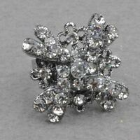 Clear Rhinestone Cute Adjustable Cocktail Ring--NEW!!