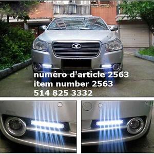 Pair Super White 8 LED DRL Car Daytime Driving Running Light