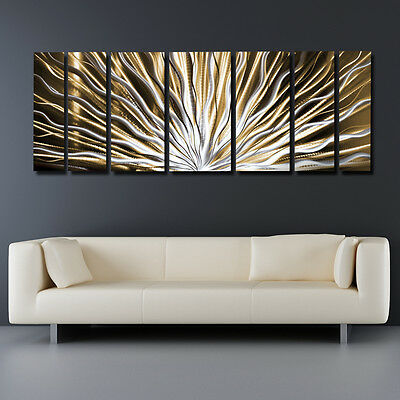 Modern Art Contemporary Abstract Metal Wall Sculpture Work Painting Large Decor