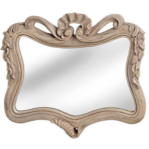 NEW-Traditional-French-Style-Limed-Oak-Overmantle-Caved-Wall-Mirror
