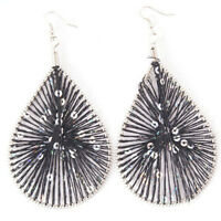 Black Silk Thread Earrings!-NEW!