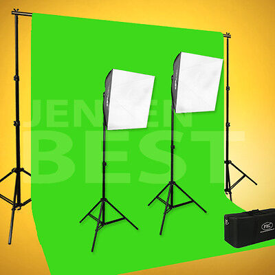 Chroma Key Green Screen Studio Softbox Kit For Photography And Video