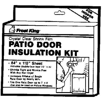 1-window Insulation Kit For Patio Door Or Picture Windows 84 X 110 X 12 V76h