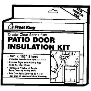 1 window insulation kit for patio door or picture windows for Window insulation rating