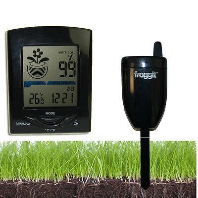 Funk Gießanzeiger Feuchtemesser 1 Sensor Blumen Gewächshaus Temperatur