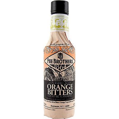 Fee Brothers Gin Barrel-aged Orange Bitters - 5oz - Bar Drink Mixer - Oak Barrel