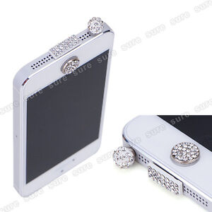 For Apple iPhone 5/ iPad mini/iPad 4 Bling Anti Dust Plug + Home Button Sticker