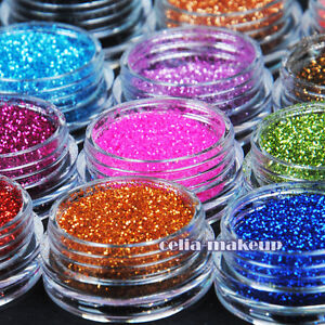 12-Color-Metal-Glitter-Nail-Art-Tool-Kit-Acrylic-UV-Powder-Dust-gem-Stamper-1003