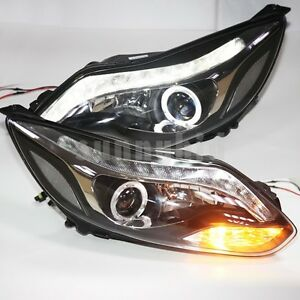 2012-Focus-LED-Head-Lamps-Angel-Eyes-Bi-Xenon-Projector-Lens-For-FORD-2012-year