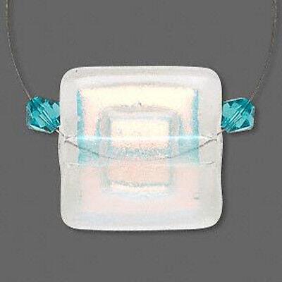 Wholesale Genuine Handmade Dichroic Glass Clear & Orange Pendant Jewelry