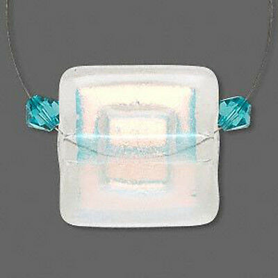 Wholesale Genuine Handmade Dichroic Glass Clear & Orange Pendant Jewelry