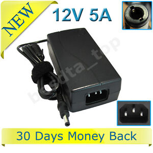 AC Power Adapter For LCD 12Volt 5Amp DC Supply Charger 12V 5A 60W 5.5*2.5mm New