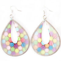 Fashionable Artistic Handmade Oblong Sassy Earrings--NEW!