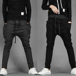 NWT-Mens-Casual-Sports-Dance-Trousers-Baggy-Jogging-Harem-Pants-US-XS-L-S0761