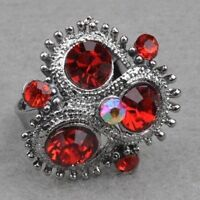 Red Diamante Adjustable Cocktail Ring---NEW!!