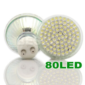 6X GU10/MR16 21/24/38/48/60/80/4W/6W LED SMD SPOT LIGHT BULBS WARM/DAY WHITE