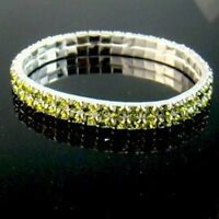 Charming Green Crystal Rhinestone Shiny Bracelet--NEW!!