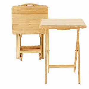 Wood Folding Table | eBay