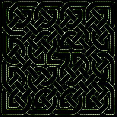 CELTIC QUILTING BACKGROUNDS DESIGNS - 36 MACHINE EMBROIDERY DESIGNS (AZEB)