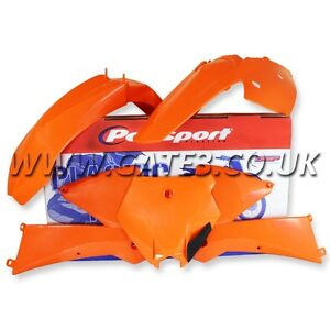 KTM SX250 SX 250 2003-2004 OEM ORANGE POLISPORT MOTO CROSS PLASTIC KIT MX