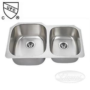 Undermount Stainless Steel Sink - 60/40 Split - BRAND NEW !!