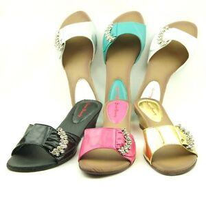Low-Wedge-Heel-Womens-Sandals-Slides-size-5-5-10US-36-41EU