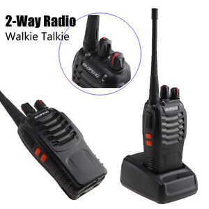 New Two-Way Radio BF-888S Walkie Talkie Single Band UHF 400-470MHZ 5W 16CH FM
