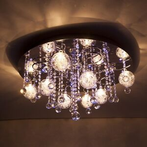 Plafonnier led bleu lustre luminaire de salon lampe for Lustre de salon moderne