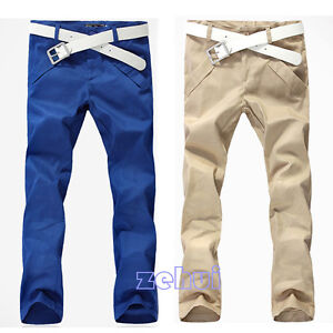 Mens-Straight-Long-Slim-Cotton-Blends-Casual-Pants-3Color-Skinny-Pencil-Trousers