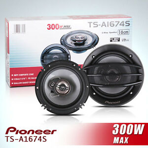 PIONEER TSA1674S 6 INCH 3 WAY 300 WATT SPEAKERS