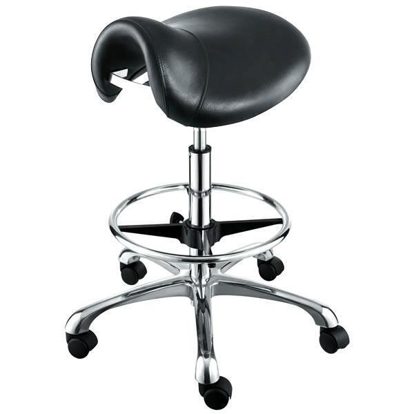 "New ""HERMES"" Saddle Salon Cutting Stool Chair by AGS Salon Equipment"