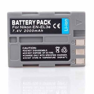 New BATTERY FOR NIKON EN-EL3e D50 D70 D80 D90 D200 D300