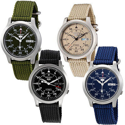 Seiko 5 Military New Automatic Day Date Watch Snk803 Snk805 Snk807 Snk809