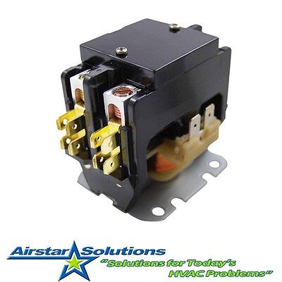 New 40 amp 2 pole 24 vac Definite Purpose Contactor Relay with Lugs