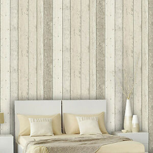 scrapwood wallpaper reclaimed wood wallpaper beige