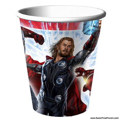 Avengers Hulk Party Cups X8 Supplies Birthday Marvel Decoration Heroes Iron Man
