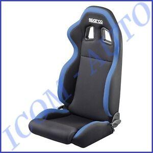 habitacle siege baquet auto sparco r100 rabattable noir bleu ebay. Black Bedroom Furniture Sets. Home Design Ideas